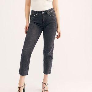 Curvy High-Rise Vintage Jeans FREE PEOPLE